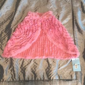 NWT Marciano Fur Pink Cape